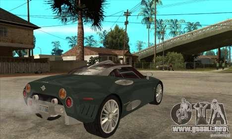 Spyker C8 Laviolete para la visión correcta GTA San Andreas