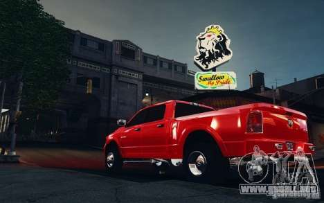 Dodge Ram 3500 Stock Final para GTA 4 Vista posterior izquierda