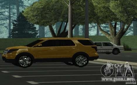 Ford Explorer Limited 2013 para GTA San Andreas left