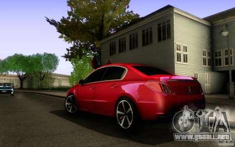 Peugeot 508 2011 para la vista superior GTA San Andreas