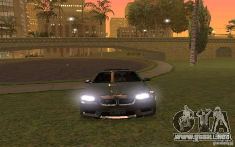 BMW M5 para vista inferior GTA San Andreas