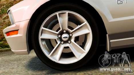 Ford Mustang GT 2005 para GTA 4 vista interior
