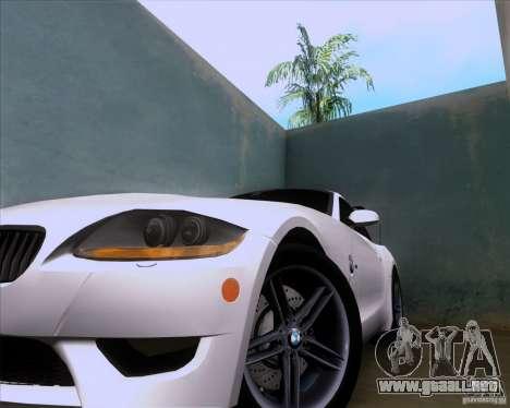 BMW Z4 M Coupe para visión interna GTA San Andreas