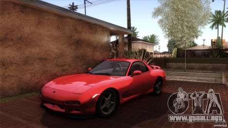 Mazda RX-7 FD 1991 para vista inferior GTA San Andreas
