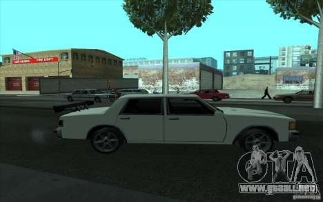 Civilian Police Car LV para vista inferior GTA San Andreas