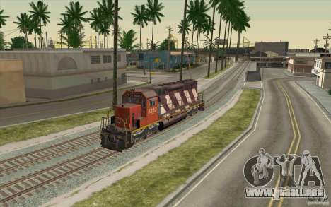 CN SD40 ZEBRA STRIPES para visión interna GTA San Andreas