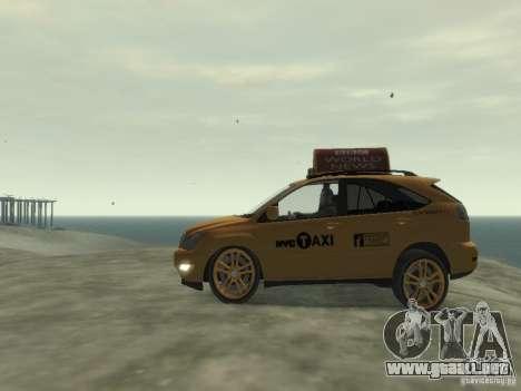 Lexus RX400 New York Taxi para GTA 4 vista hacia atrás