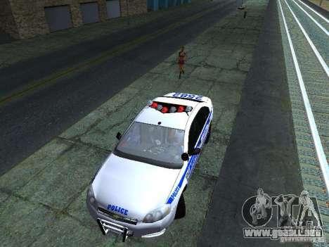 Chevrolet Impala NYPD para vista lateral GTA San Andreas
