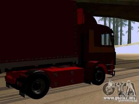 Scania 143M para GTA San Andreas vista posterior izquierda