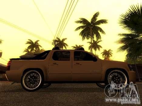 Chevrolet Avalanche Tuning para la visión correcta GTA San Andreas