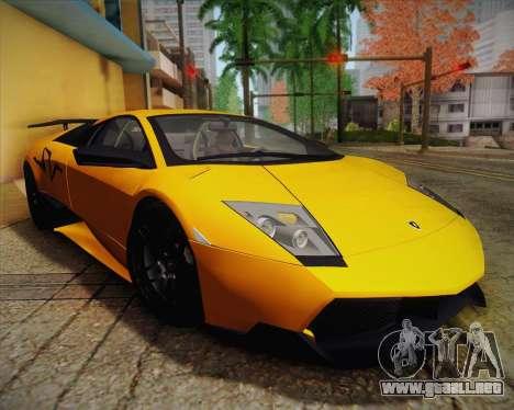Lamborghini Murcielago LP 670/4 SV Fixed Version para visión interna GTA San Andreas