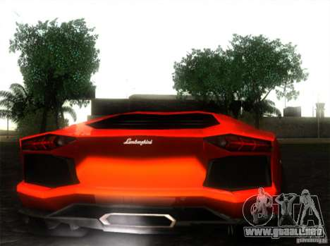 Lamborghini Aventador LP700 para GTA San Andreas left