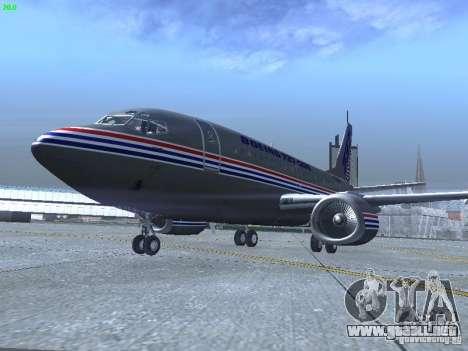 Boeing 737-500 para GTA San Andreas left