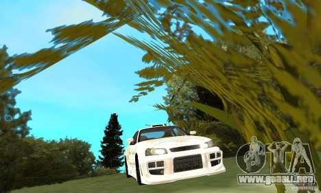 Nissan SkyLine R34 Tunable V2 para visión interna GTA San Andreas