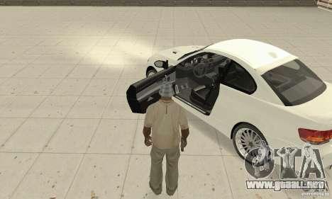 BMW M3 2008 Convertible Hamann para GTA San Andreas vista hacia atrás
