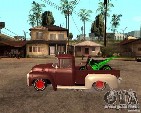 ZIL 130 Tempe ardiente Final para GTA San Andreas left