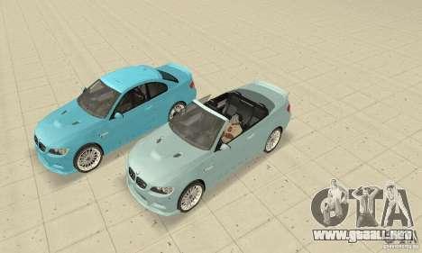 BMW M3 2008 Hamann v1.2 para GTA San Andreas vista posterior izquierda