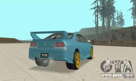 Nissan Skyline R33 Tuning para GTA San Andreas vista posterior izquierda