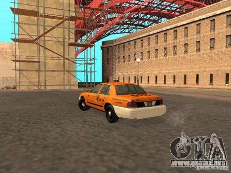 Ford Crown Victoria San Francisco Cab para la visión correcta GTA San Andreas