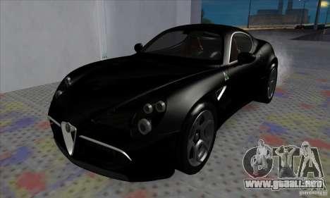 Alfa Romeo 8C Competizione para GTA San Andreas