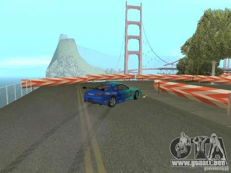 New Drift Track SF para GTA San Andreas quinta pantalla