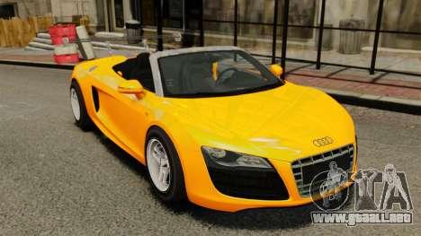 Audi R8 Spyder para GTA 4