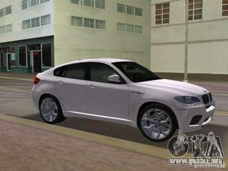 BMW X6M para GTA Vice City vista posterior