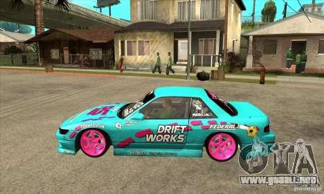 Nissan Silvia S13 Drift Works para GTA San Andreas left