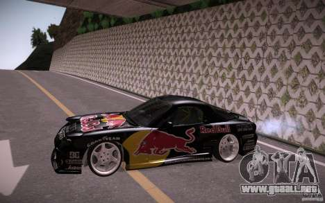 Mazda RX7 Madmikes Redbull para GTA San Andreas left