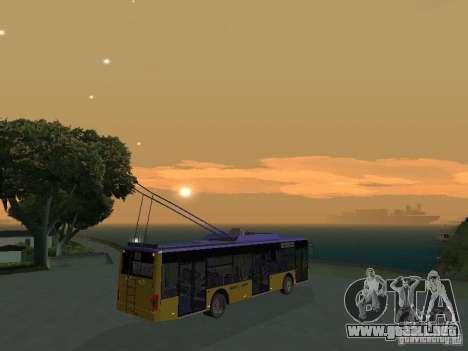 Trolebús LAZ e-183 para visión interna GTA San Andreas