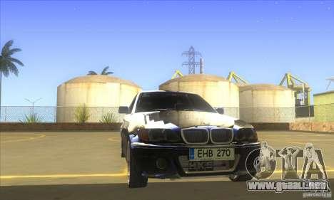 BMW 325i E46 v2.0 para visión interna GTA San Andreas