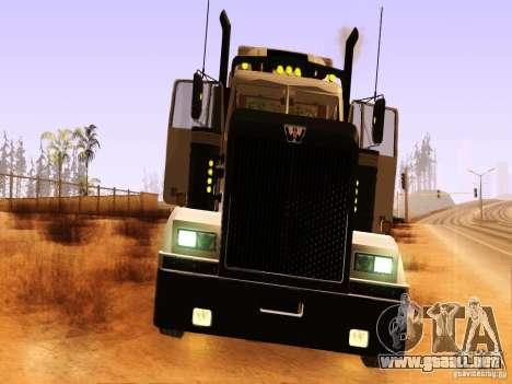 Western Star 4900 para visión interna GTA San Andreas