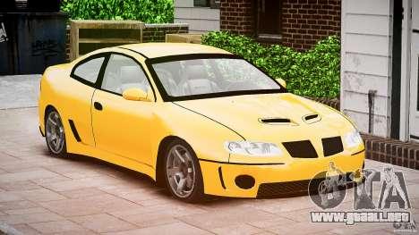 Pontiac GTO 2004 para GTA 4 visión correcta
