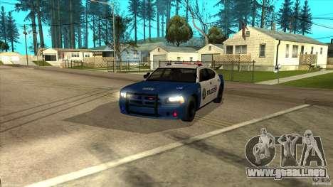 Dodge Charger Los-Santos Police para GTA San Andreas vista posterior izquierda