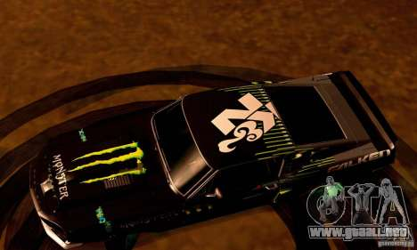 Shelby GT500 Monster Drift para GTA San Andreas interior