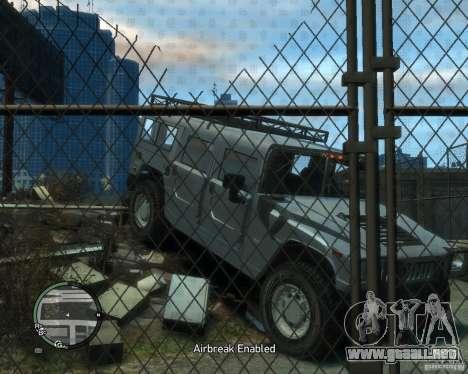 Hummer H1 para GTA 4 vista hacia atrás