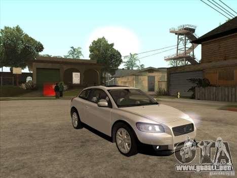 Volvo C30 para visión interna GTA San Andreas