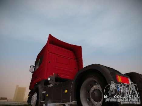 Scania R580 Topline para GTA San Andreas vista posterior izquierda