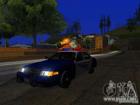 Ford Crown Victoria Belling State Washington para vista lateral GTA San Andreas