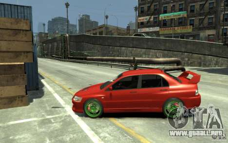 Mitsubishi Lancer Evolution IX para GTA 4 left