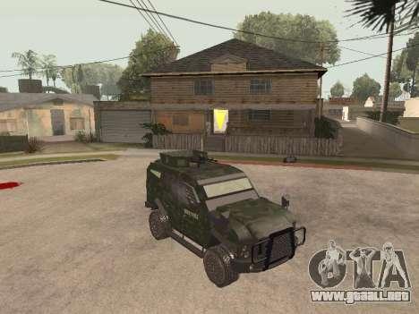 Oshkosh SandCat of Mexican Army para GTA San Andreas left