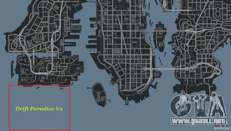 Drift Paradise V2 para GTA 4 octavo de pantalla
