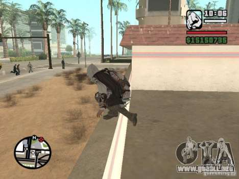 La capacidad de los Assassins Creed para GTA San Andreas tercera pantalla