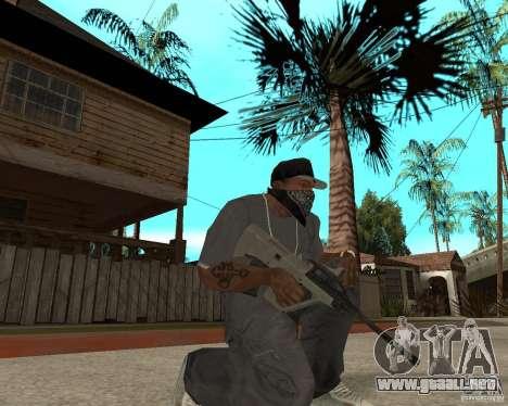 AUG HBAR con un ojo para GTA San Andreas segunda pantalla