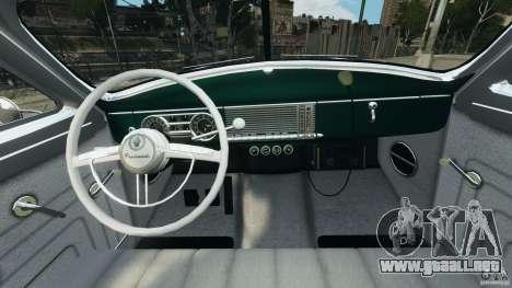 Packard Eight Police 1948 para GTA 4 vista hacia atrás