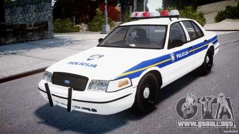 Ford Crown Victoria Croatian Police Unit para GTA 4