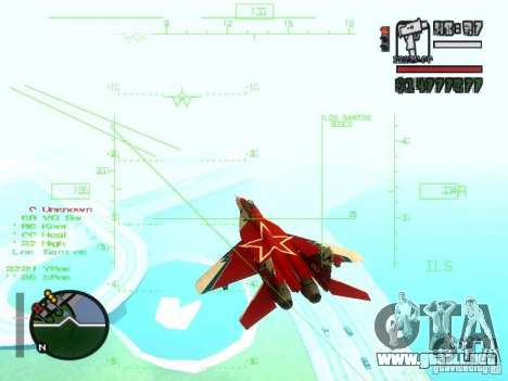 MIG 29 OVT para GTA San Andreas