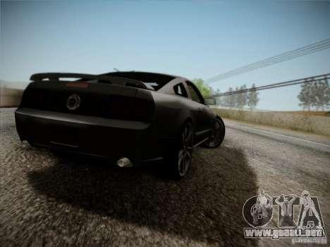 Ford Mustang GT 2005 para la visión correcta GTA San Andreas