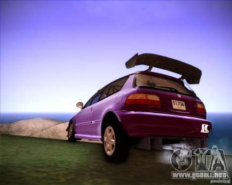 Honda Civic 1994 para GTA San Andreas left