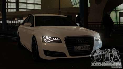 Audi A8 (D4, Typ 4H) 2010 Alpha para GTA 4 visión correcta